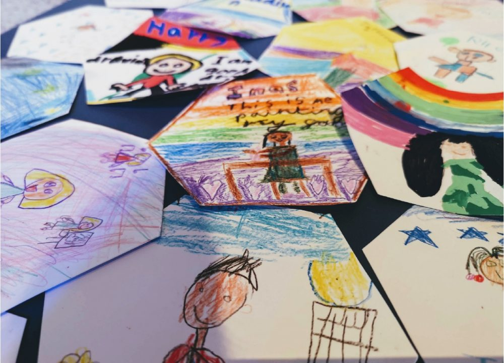 Colourful children's drawings