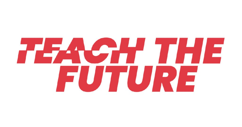 Teach the Future's red and white logo
